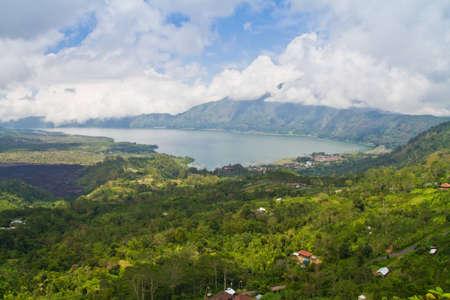 Buyan Lake in bali island photo