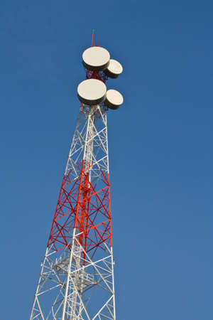 Communications tower with blue sky Stock Photo - 12536335