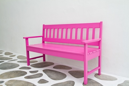 Pink chair photo