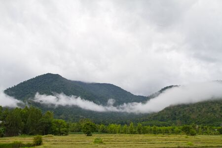 Mountain and cloud Stock Photo - 13850557
