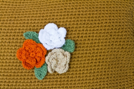 Crocheted flowers photo