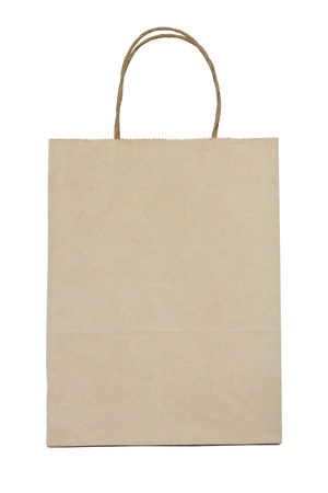 Paper bag on white background Stock Photo