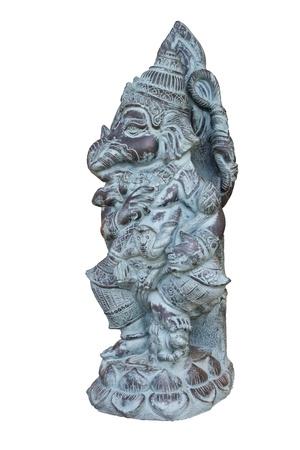 Ganesha of hindu isolated on white background Stock Photo - 14956096