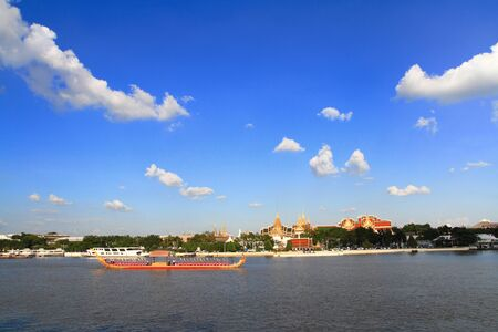 Royal Barge Procession at Chao Phraya River, Bangkok, Thailand  photo