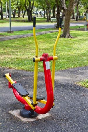 Exercise equipment in public park photo
