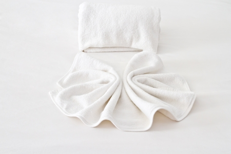 White hotel towel photo
