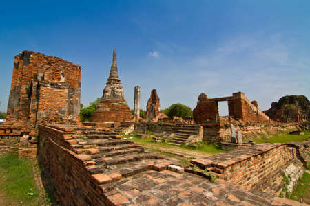 Ancient temple, Wat Mahathat, in Ayutthaya province, thailand photo