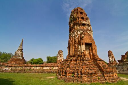 Ancient pagoda in Wat Mahathat, Ayutthaya province,Thailand photo