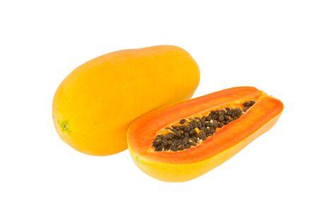 Ripe papaya, cut half