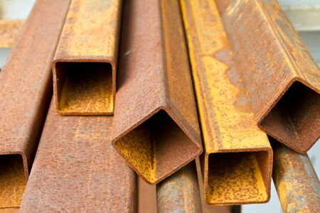 Rusty square bar Stock Photo - 17710887