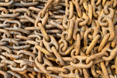 Rusty chain for mooring photo