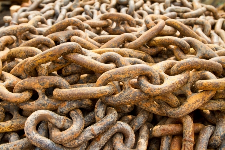 Rusty chain for mooring Stock Photo - 17710895