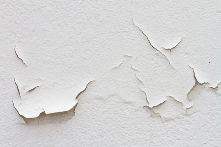 moistness: Peeling vernice causa di umidit� Archivio Fotografico