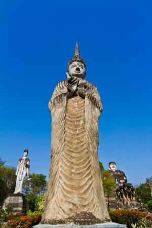 Buddha statue in hindu style, Nhongkhai Province Thailand  photo