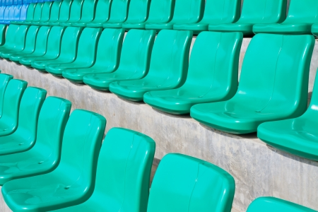 Rows of empty seats in stadium  photo