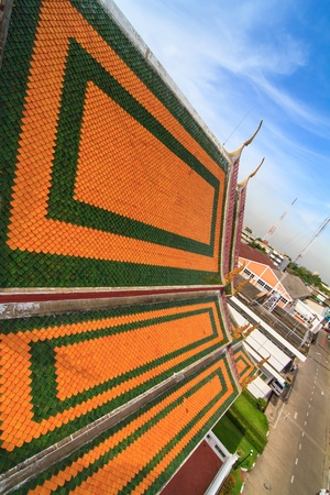 gabled: Thai temple roof Stock Photo
