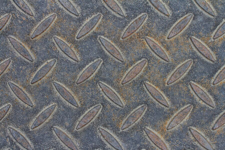 Rusty metal background with non slip repetitive pattern photo