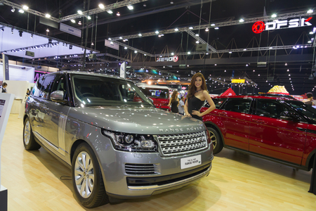 NONTHABURI - DECEMBER 6  Range Rover The All New Range Rover car on display at The 30th Thailand International Motor Expo on December 6, 2013 in Nonthaburi, Thailand