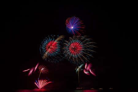 ix: International Fireworks Show In honor of His Majesty the King RAMA IX at Hua Hin District, Prachuap Khiri Khan Province, Thailand