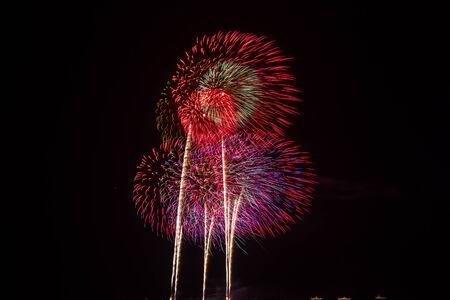 rama: International Fireworks Show In honor of His Majesty the King RAMA IX at Hua Hin District, Prachuap Khiri Khan Province, Thailand