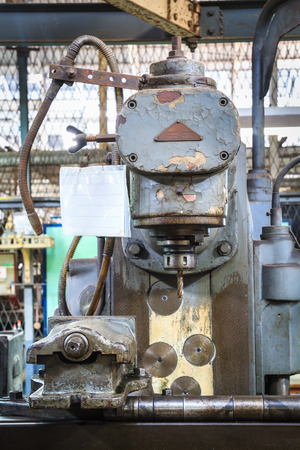 turning operation: Old drilling machine
