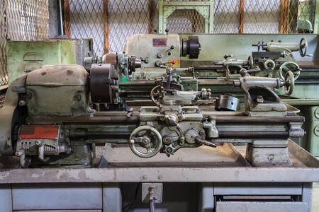 Old lathe machine