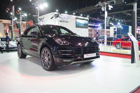 Porsche Macar turbo showed in 35th Bangkok International Motor Show on March 25, 2014 in Nonthaburi, Thailand