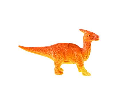taxonomy: Plastic dinosaur toy isolated on white background