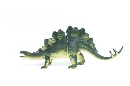 stegosaurus: Juguete dinosaurio Stegosaurus en el fondo blanco