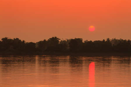 mekong: Sunset at Mekong river
