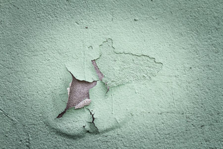 flaking: Old flaking color on a wall in vintage