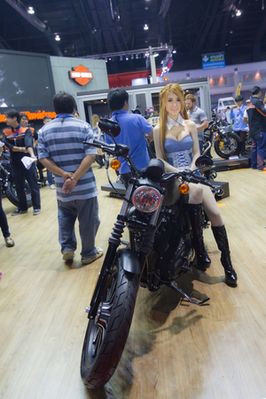 harley davidson motorcycle: BANGKOK - MARCH 30: Harley Davidson motorcycle on display at The 36 th Bangkok International Motor Show on March 30, 2015 in Bangk Editorial