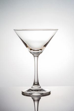 martini glasses: Empty martini glass