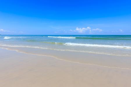 hua hin: Blue sea and blue sky at hua hin beach, thailand