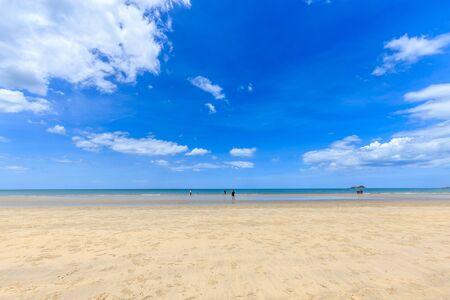 khan: Suan Son Pradipat Beach with blue sky in Hua Hin district, Prachuap Khiri Khan province, Thailand Stock Photo