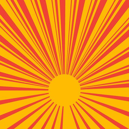 Vector illustration of abstract background sunrays