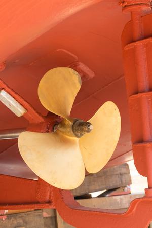 Ship proppeler in the dry dock