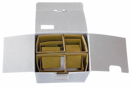 uitpakken: uitpakken doos Stockfoto