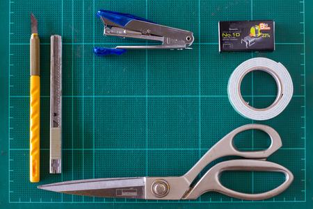 craft supplies: frame and backgrund of Craft supplies