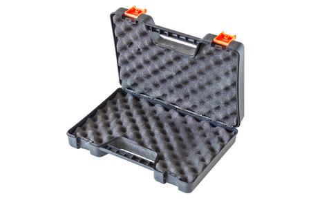 glock: Open the gun box on white isolate