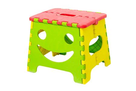 stool: Colorful plastic folding stool Stock Photo