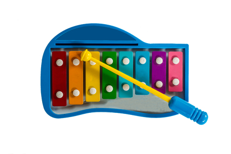 The xylophone for child on white isolate