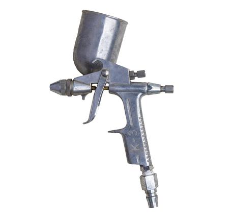 air gun paint on white isolate Stock Photo