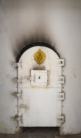 crematorium: Door in the  crematorium