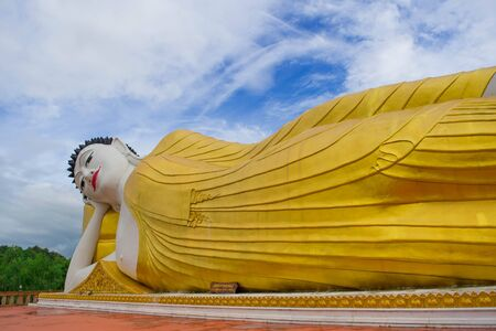Reclining Buddha Statue, Northern of Thailand