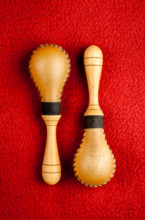 maracas: Maracas percussion music instrument Stock Photo