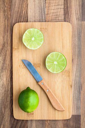 chopping board: Lime Knife Chopping Board