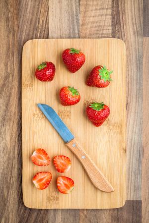 chopping board: Strawberries Knife Chopping Board