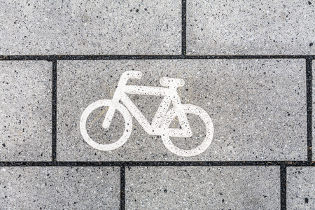 cycleway: Bicycle Icon Symbol Stock Photo