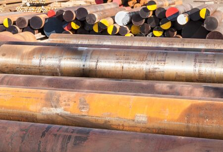 corrosion: Rust Steel Pipes Heavy Industry